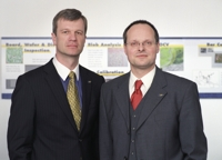 MVTec's managing directors Dr. Wolfgang Eckstein (left) and Dr. Olaf Munkelt (right)